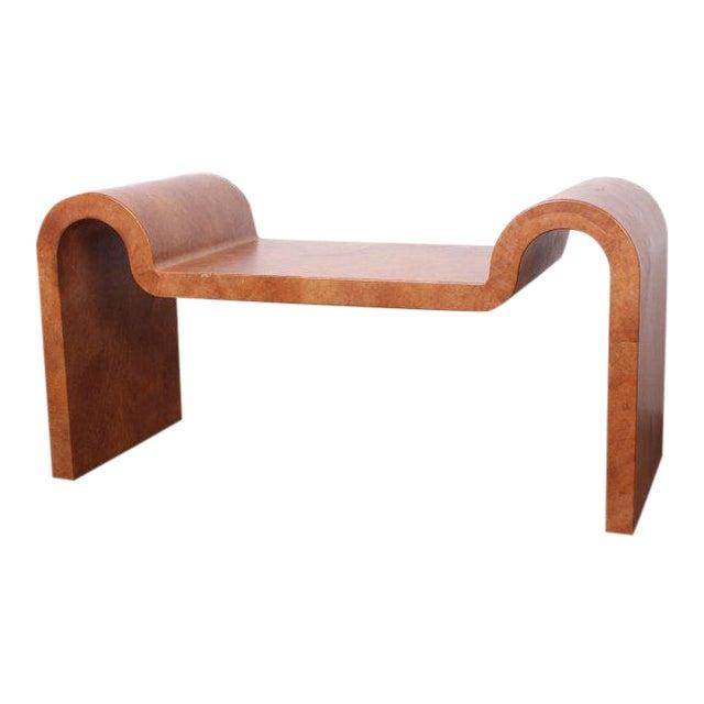 Karl Springer Goatskin Parchment Bench For Sale