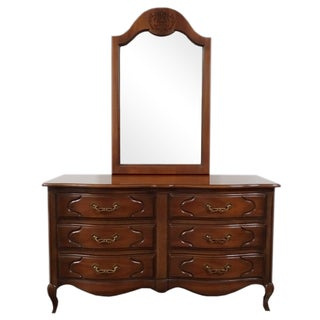 Drexel French Provincial Dresser & Mirror