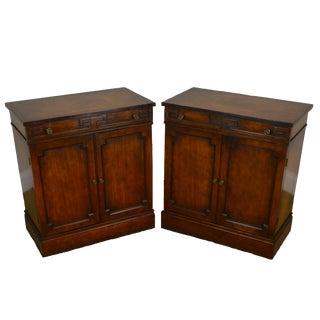 Grosfeld House Hollywood Regency Pair One Drawer 2 Door Cabinet Nightstands For Sale