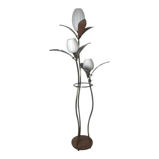 "Mid-Century Modern ""Lotis"" Triple Shade Floor Lamp For Sale"