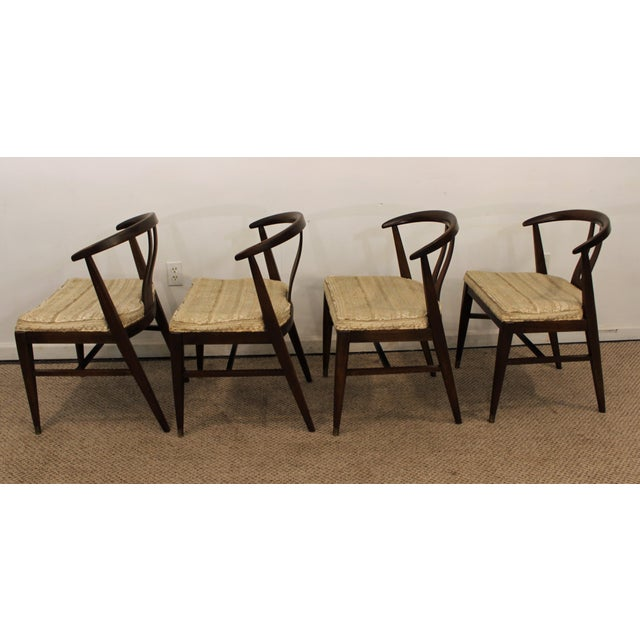 Curved-Back Walnut Dining Chairs - Set of 6 - Image 6 of 11