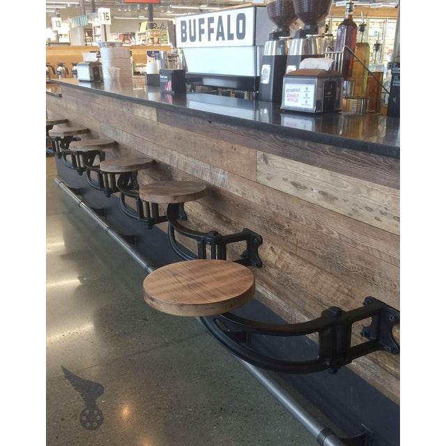 Cast Iron The Get Back Inc. Original Swing-Out Seat for Bars, Kitchen Counters and Outdoors For Sale - Image 7 of 12