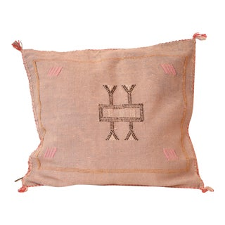 Lilac Cactus Silk Sabra Moroccan Pillow Cover For Sale