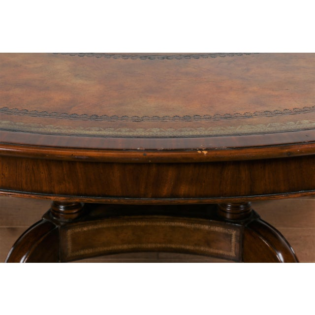 Large Maitland Smith Round Dining Table For Sale - Image 10 of 13