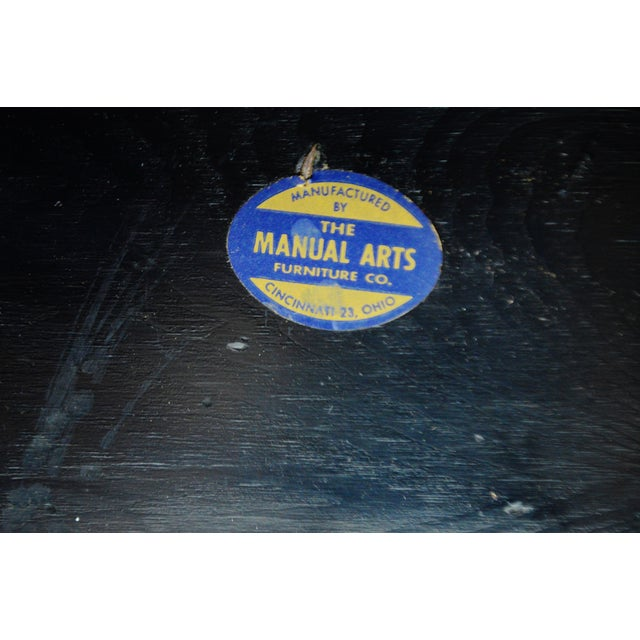 Mid Century Manual Arts Furniture Company (MAFCO) Adjustable Piano Bench - Black For Sale - Image 10 of 11