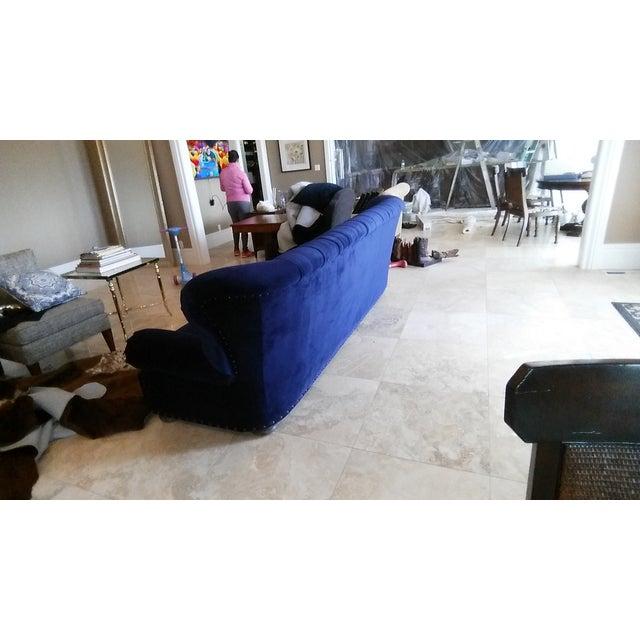 Restoration Hardware Churchill Blue Velvet Sofa - Image 7 of 7