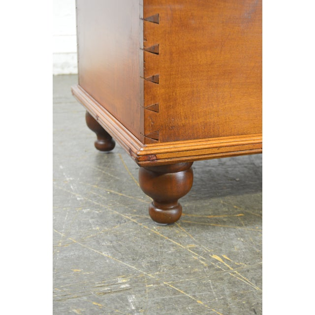 Brown Country Antique 19th Century Poplar Dovetailed Lidded Chest Wood Box For Sale - Image 8 of 12