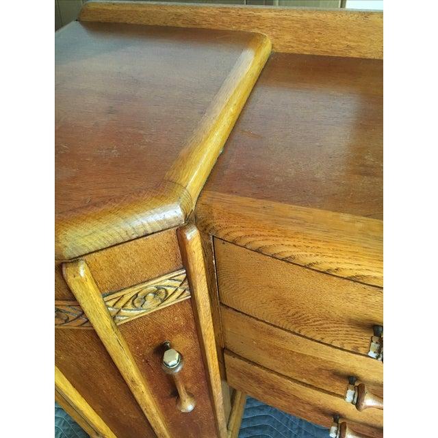 Art Deco Oak English Credenza - Image 9 of 10