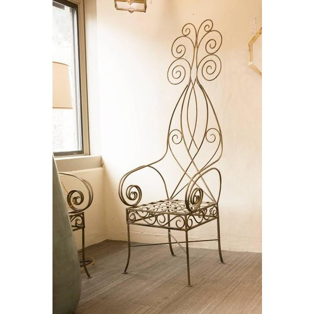 Pair of French Metal Fantasy Chairs - Image 2 of 4