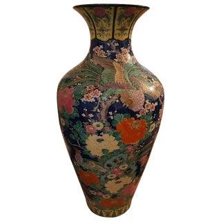 Palace Size Porcelain Vase with Floral Motif For Sale