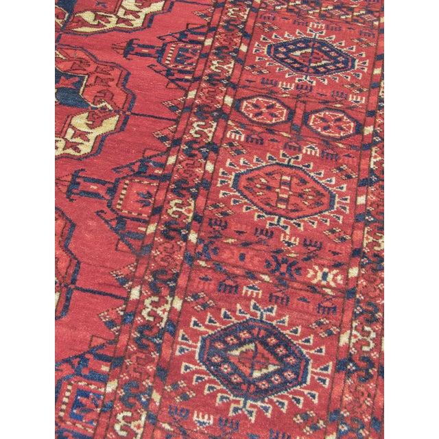 Tekke Turkmen Main Carpet For Sale - Image 4 of 5