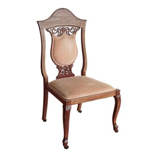 Victorian Coral Side Chair For Sale