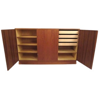 Mid-Century Modern Teak Storage Cabinet For Sale