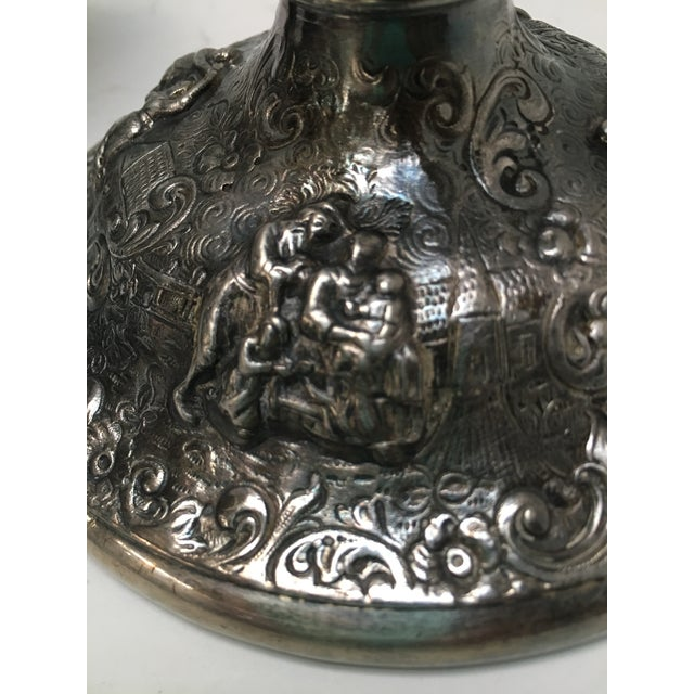 Metal Late 1800s Barbour Silver Candle Holders - A Pair For Sale - Image 7 of 10