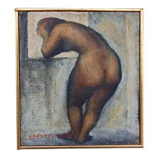 Pensive Nude Modernist Painting by Earnest O. Mondorf For Sale