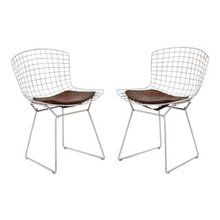 Vintage White Bertoia Side Chairs- A Pair For Sale