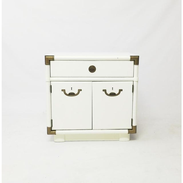 Drexel Accolade Campaign Nightstand For Sale - Image 5 of 5