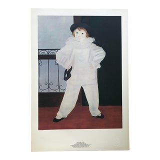 "Pablo Picasso Limited Edition 1441/5000 Lithograph, ""Paul en Pierrot"" For Sale"