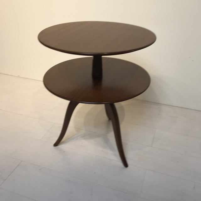 1950s Mid-Century Modern Paul Frankl for Brown Saltman Tiered Oak Side Table For Sale In Los Angeles - Image 6 of 6