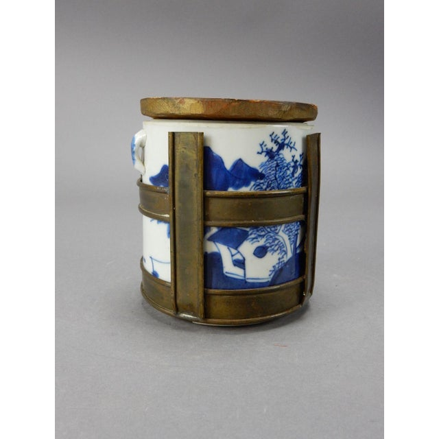 Antique Chinese Blue & White Tea/Tobacco Jar For Sale - Image 4 of 11