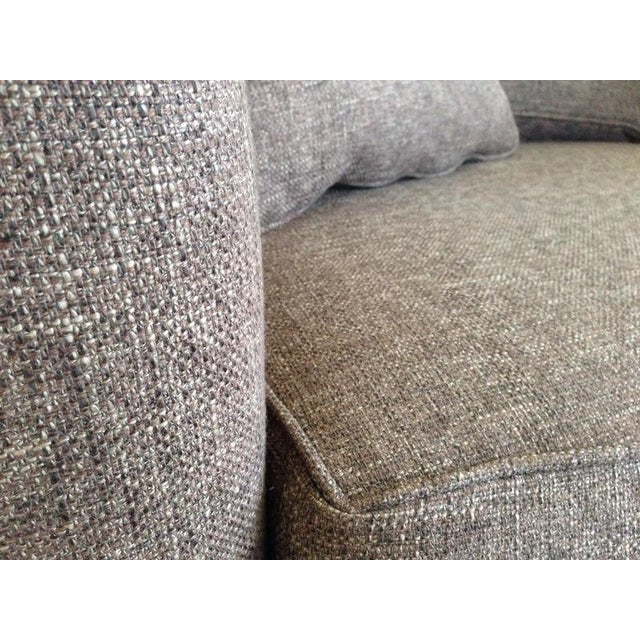 Textile Jonathan Louis Kenton Contemporary Upholstered Armchair & Ottoman For Sale - Image 7 of 8