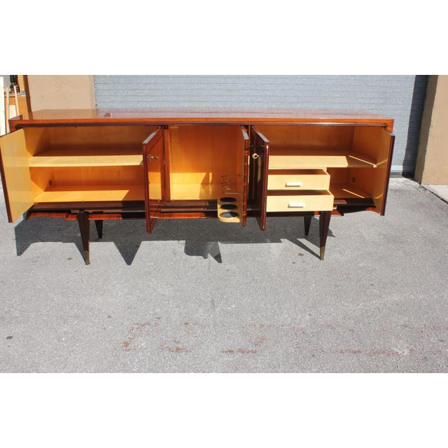 1940s French Art Deco Macassar Ebony Sideboard Credenza For Sale - Image 5 of 13