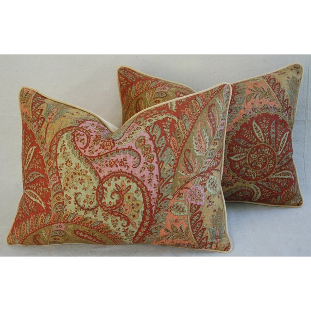 Designer Brunschwig & Fils Paisley Pillows - Pair - Image 2 of 9