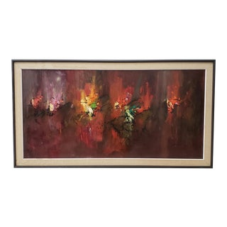 Joseph Henry Feuerborn (1929-2011) Mid-Century Modern Abstract Painting C.1950s For Sale