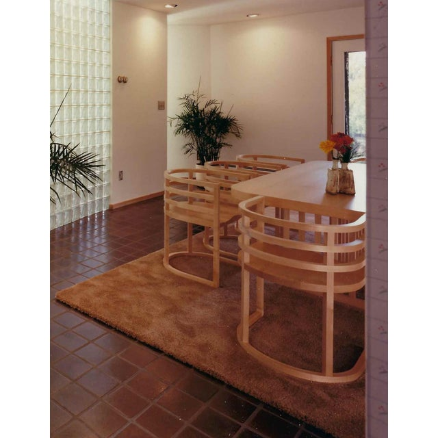 Contemporary Richard Meier Dining Room Setting Table and 8 Chairs For Sale - Image 3 of 6