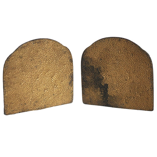 European Antique Brass Bookends For Sale - Image 4 of 6