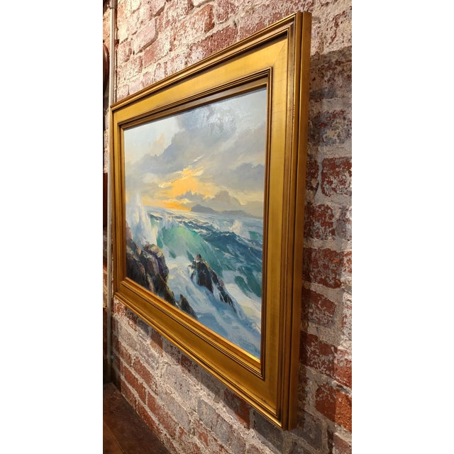 Bennett Bradbury California Seascape Oil Painting on Canvas For Sale - Image 9 of 10