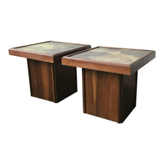 John Keal for Brown Saltman Cocktail Tables - a Pair For Sale