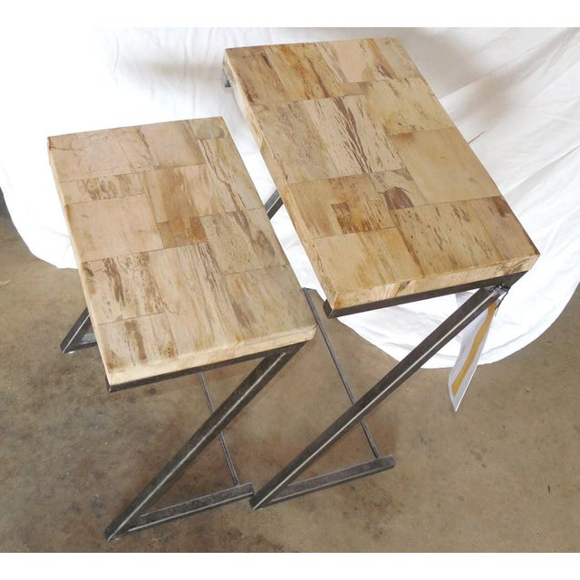 Bernhardt Petrified Wood Nesting Tables - A Pair - Image 6 of 9