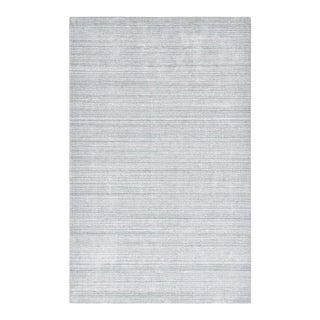 """Alexandra, Contemporary Light Gray 9' 0"""" x 12' 0"""" Handmade Area Rug For Sale"""