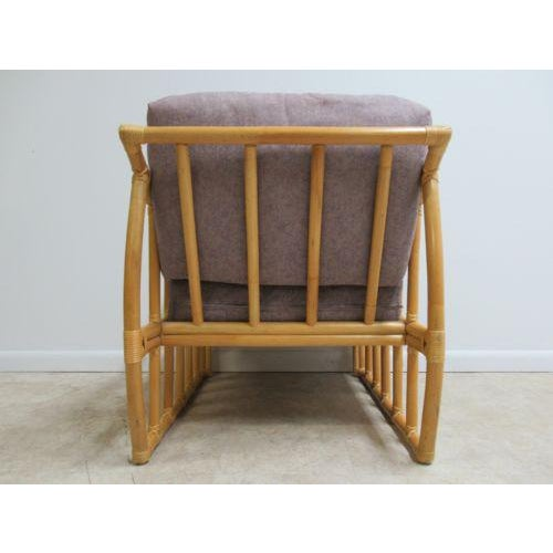 Vintage Ficks Reed Bamboo Rattan Living Room Lounge Chair For Sale - Image 9 of 11
