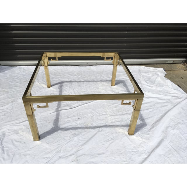 Brass Mastercraft Italian Brass Coffee Table For Sale - Image 7 of 12