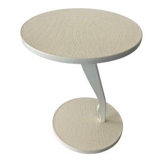 Fendi Casa Croc Leather Side Table For Sale