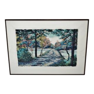Vintage Framed Steve Bloom Pencil Signed Artist Proof Serigraph Early Seasons For Sale