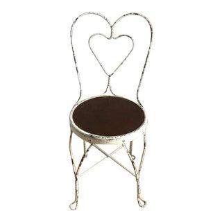 Vintage Antique Ice Cream Parlor Chair For Sale