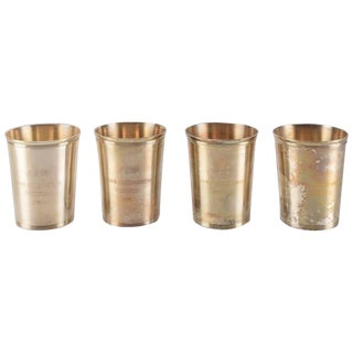 Godinger Silver Plate Julep Cups With Monograms For Sale