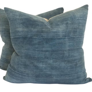 Vintage African Indigo Pillows - Pair