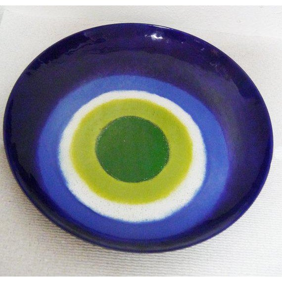 Curtis Jere Large, Signed, Curtis Jere Wall Turkish Eye Tray/Charger Plate For Sale - Image 4 of 4