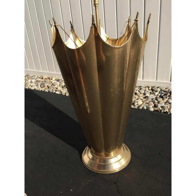 Mid-Century Brass Umbrella Shaped Stand - Image 8 of 8