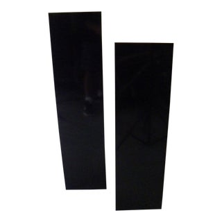 1980s Vintage Acrylic Lighted Pedestals- A Pair For Sale