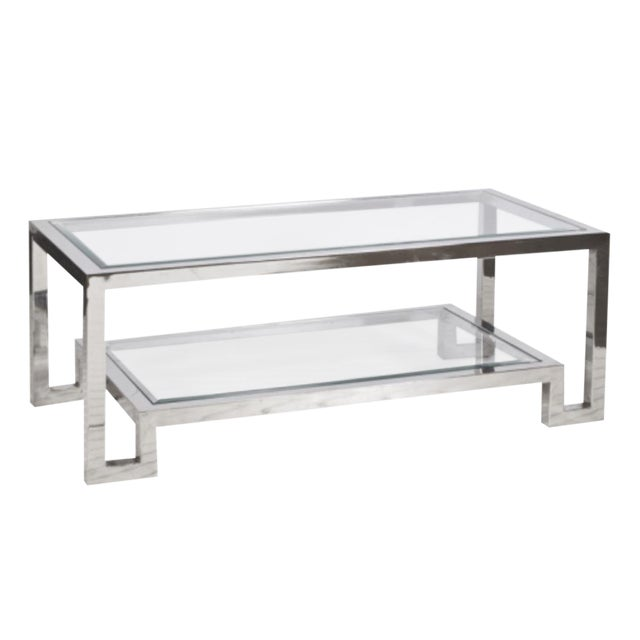 Modern Worlds Away Winston Cocktail Table For Sale