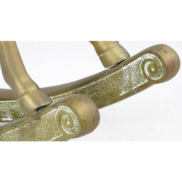 "Unusual 35"" Tall Brass Rocking Horse - Image 5 of 8"