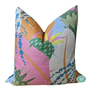 Ananas in Tropical by Schumacher - Pillow Cover For Sale
