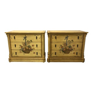 Drexel French Country Yellow Chests - a Pair For Sale