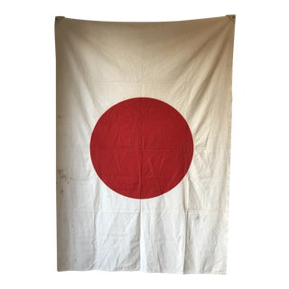Vintage Cloth Japanese Flag For Sale