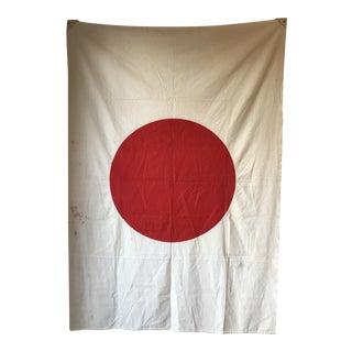 Vintage Cloth Japanese Flag For Sale